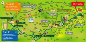Mt. Takao Hiking Map