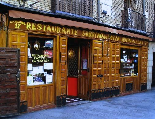 Restaurante sobrino de botin in madrid guinness book of for Casa botin madrid