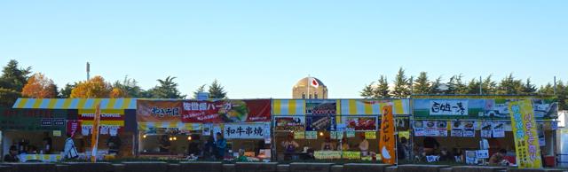 Meiji Jingu Gaien Ginkgo Ave Food Stalls