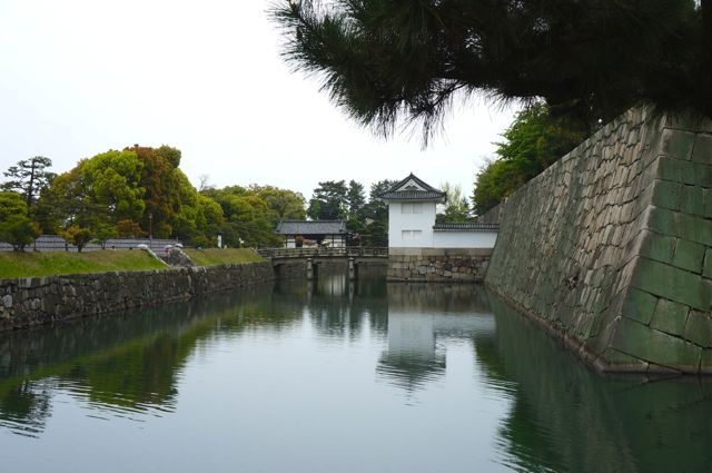 Nijo Castle stone walls